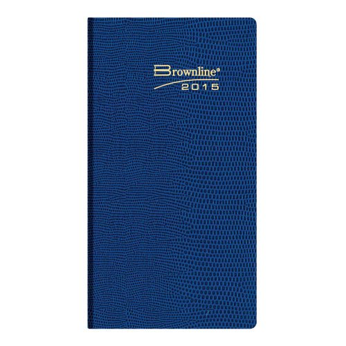 brownline-6-x-312-inches-2015-weekly-pocket-planner-flexible-cover-assorted-charcoal-bright-blue-bri