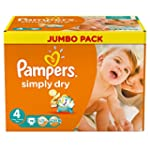 Pampers Simply Dry Size 4 Large,(Pack...