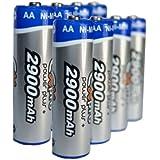 Ex-Pro® Power Plus+ Ultra Blister de 8 piles rechargeables AA - 2900mAh Batteries NiMH