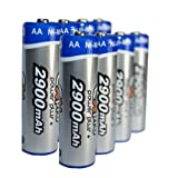 Ex-Pro� [VALUE - 2 PACKS] Power Plus+ Ultra High Capacity AA recharegable 2900mAh Batteries - Pack of 8 Batteries - specifically for High drain devices, Toys, Games, Consoles etc.. Long Lasting !by Ex-Pro