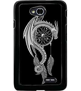 ColourCraft Dragon Art Design Back Case Cover for LG L70