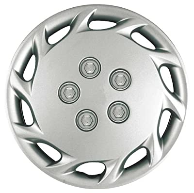 CCI IWCB877-14S 14 Inch Clip On Silver Finish Hubcaps - Pack of 4