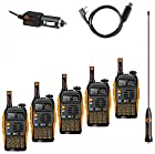 5 Pack Baofeng PoFung GT-3 Mark-II Transceiver, FM Radio, Dual Band 136-174/400-520 MHz, Chipsets Upgraded, ABS Frame + Programming Cable