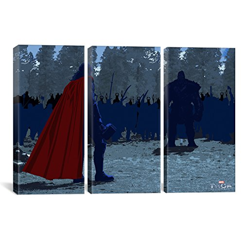 0.75 by 60 by 40-Inch iCanvasART 3-Piece 17 Canvas Print by Dean Russo