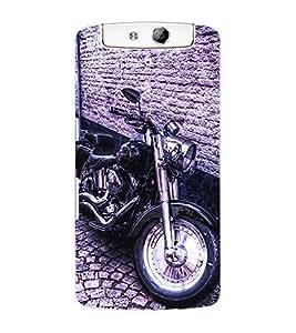 ColourCraft Bike Back Case Cover for OPPO N1