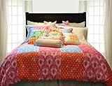 Pointehaven Printed 300 TC 3-Piece 100-Percent Combed Cotton Duvet Set, Cla ....