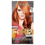 L'Oreal Paris Feria Permanent Hair Colour, Mango Intense Copper Number 74 - Pack of 3