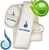 Best Loofah - Extra Long Premium Exfoliating Back and Body Loofah for Men and Women. BONUS: Exfoliating Loofah Pad for Free