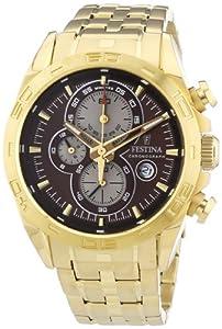 Festina Herren-Armbanduhr XL Chronograph Quarz Edelstahl beschichtet F16656/4