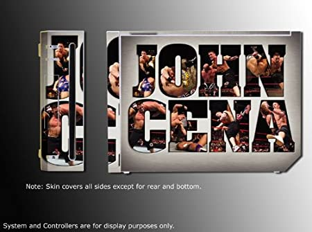 John Cena Champion Game Vinyl Decal Skin Protector Cover 3 for Nintendo Wii