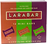 LARABAR Minis Variety Pack, Apple/Cherry/Cashew, Gluten Free (Pack of 12)