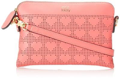 Orla Kiely Punched Love Heart Popy Cross-Body Bag from Orla Kiely