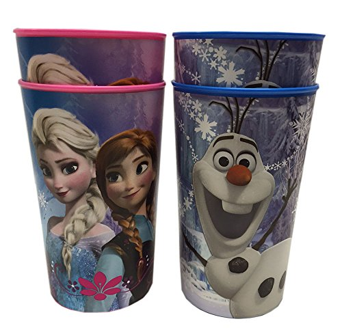 Anna, Elsa and Olaf 16-ounce Plastic Party Cup, Party Supplies - 1