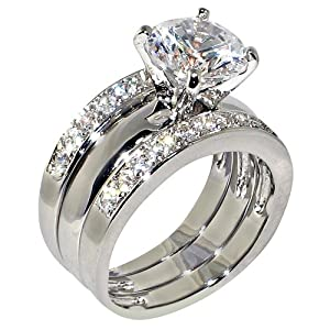 Amazon.com: 3.47 Ct. Round Cubic Zirconia Cz Solitaire