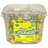 Lemonhead 150ct Tub - Individually Wrapped (Color: Yellow, Tamaño: 40.5 Ounce Tub)
