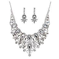 Bridal Wedding Jewelry Set Crystal Rh…