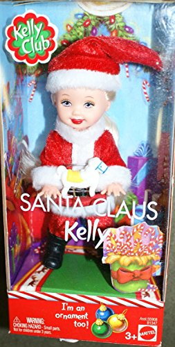 Barbie Kelly Club Santa Claus Kelly doll ornament too - 1