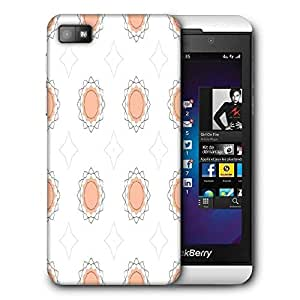 Snoogg Abstract Cream White Pattern Printed Protective Phone Back Case Cover For Blackberry Z10
