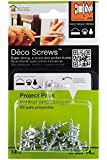 Under the Roof Decorating 3-100142 Deco Screw Nickel Project Pack