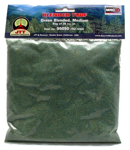 JTT Landscaping Material - Blended Turf, Green Blended, Medium - 1