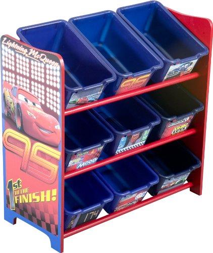 Cars 9 Bin Toy Organizer