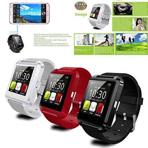 Vktech® U8 Bluetooth Smart Wrist Watch Bracelet Waterproof 3S For Samsung Iphone Us Plug (Red)
