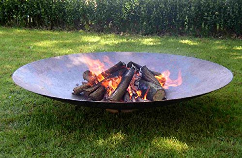 Corten Steel Bowl Burners -rust Finish Fire Pits 120cm Garden Heating Heater Feature Furniture Patio