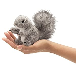 Folkmanis Mini Gray Squirrel Finger Puppet from Folkmanis