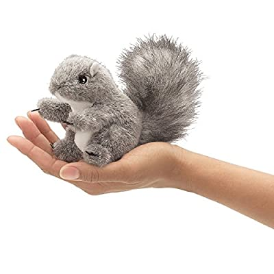 Folkmanis Mini Gray Squirrel Finger Puppet from Folkmanis Puppets