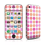 Apple iPhone4/iPhone4S用 スキンシール【Big Dots Peach】