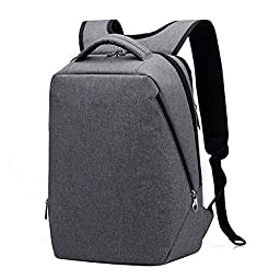 Kopack Men Travel backpack Lightweight Laptop Backpack bag for 14 15.6 17 Inch Water resistant Grey Slim
