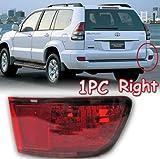 GOOACC® Tail Light Brake Fog Lamp FJ 120 Right 1pc for 2003 2004 2005 2006 2007 2008 2009 Toyota Prado Cruiser FJ120
