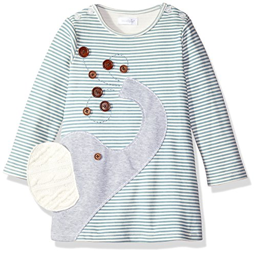Mud Pie Girls' Casual Striped Play Dress, Elephant Gray, 12-18 Months (Mud Pie Girl 18 Months compare prices)
