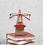 Store Indya Wooden Nose Shaped Spectacle Stand Eyeglass Holder Hand Carved
