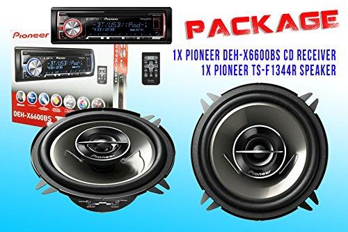 Package ! Pioneer Deh-X6600Bs Cd-Receiver + Pioneer Ts-G1344R Car Speakers