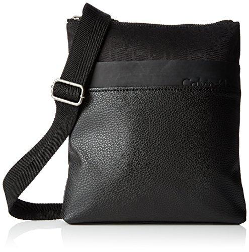 Calvin Klein Tom Logo Flat Crossover Borsa, Uomo, Colore Black 1