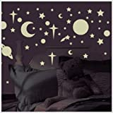 Glow in the Dark Stars & Planets Wall Stickers