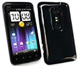FLASH SUPERSTORE HTC EVO 3D SOLID PATTERN GEL SKIN COVER/CASE BLACK