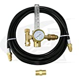 Low-Cost TIG Welding Argon Flow Meter/Regulator with Gas Hose Kit