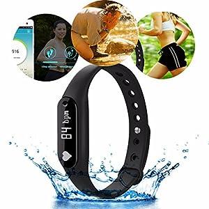 ELEGIANT C6 Bracelet Bluetooth Intelligent Sports Montre Fonction Podomètre Fréquence Cardiaque Surveillance du sommeil rappel de perdre Compatible avec Andriod4.4 / IOS 7.0