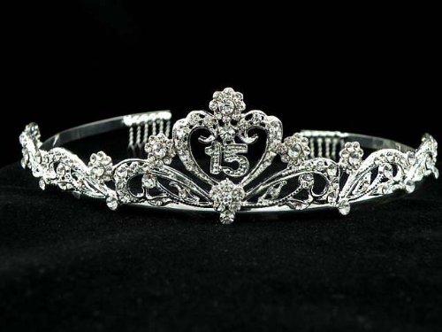 15th Birthday Prom Crown Swarovski Crystal Tiara T59