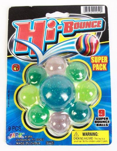 Ja-Ru Hi-Bounce Assorted Super Ball Pack - 1