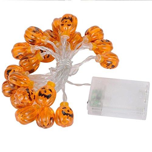 Halloween Zucca LED Stringa Luci Clode® 20 LED di Zucca Stringa Luci Luci di Decorazione di Halloween Caldo 7.2ft Bianco