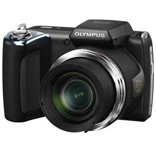Olympus SP-620UZ Black 16MP Digital Camera with 21x Optical Zoom (Black)
