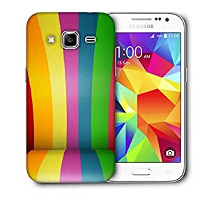 Snoogg Colorful Bandwidth Printed Protective Phone Back Case Cover For Samsung Galaxy CORE PRIME