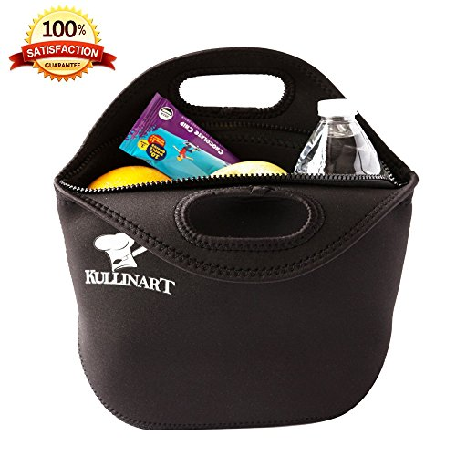 large-lunch-bag-insulated-neoprene-tote-heavy-duty-zipper-13-x-115-x-5-inches-for-men-women-kids