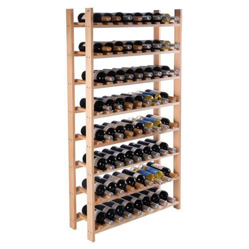 Wood Wine Holder - 120 Bottle Wood Wine Rack 8 Tier Storage Display Shelves Kitchen Natural Wine Bottle Holder (Wooden Wine Rack Free Standing compare prices)