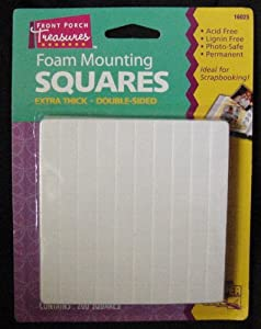 Foam Mounting Squares Double Sided Extra Thick Small 200 Squares Per Package