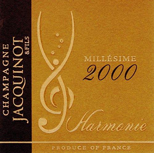 2000 Champagne Jacquinot & Fils: Champagne Harmonie 750 Ml