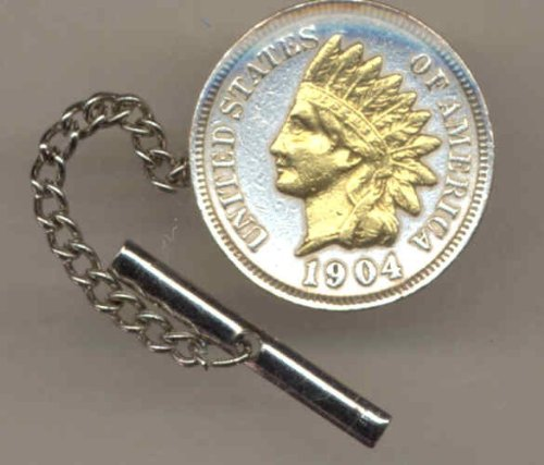 Two Toned Indian head penny tie